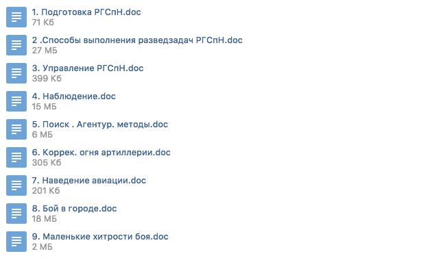 Организация боевой деятельности РГСпН ГРУ ГШ