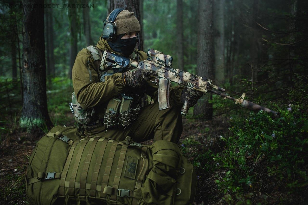 Бой в лесу