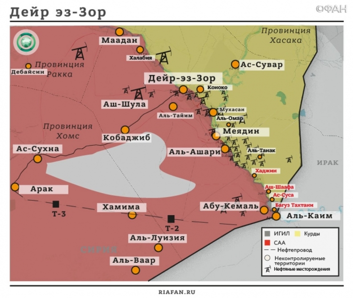 Syria news 25 December 22.30: IG * carried out the attack in Deir ez-Zor, militants have HTSH Resistance Army in Idlib
