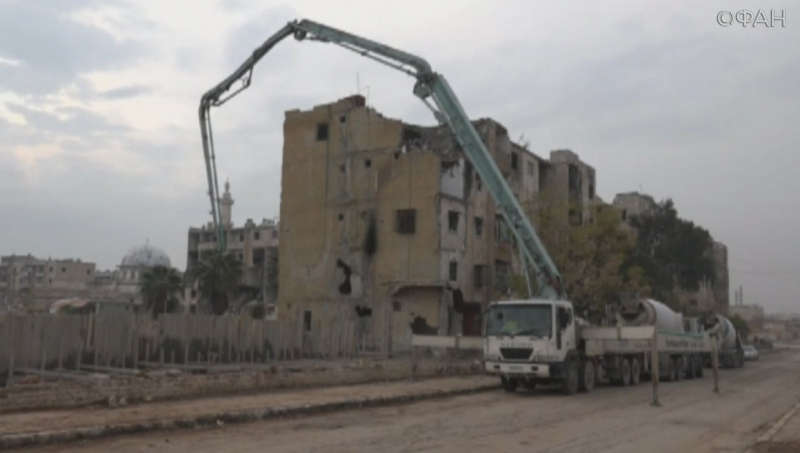 In Aleppo, Syria began construction 10 houses for refugees