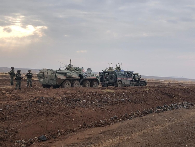 The Russian military conducted six patrols in northern Syria in the past day