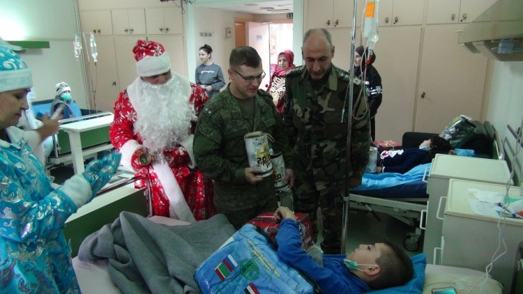 Russian military held a charity New Year campaign for Syrian children