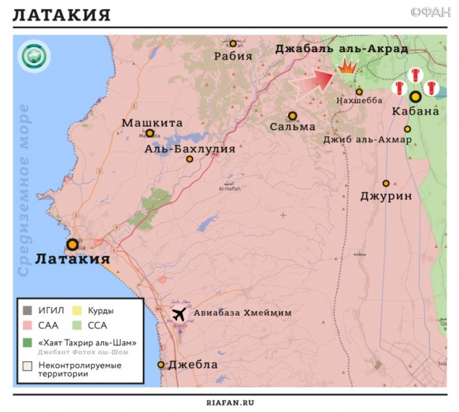 Syria the results of the day on 25 December 06.00: * IG attack Kurdish radicals, Syrian army liberated 40 settlements Idlib