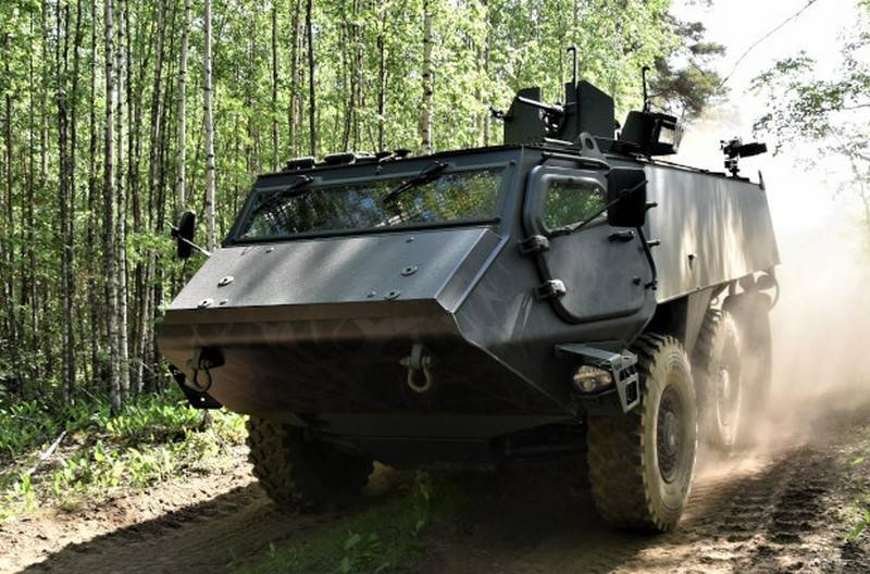 Finland and Latvia have jointly developed a new armored personnel carrier