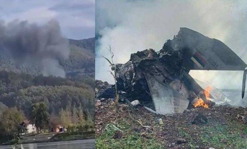 Fighter MiG-21 crashed in western Serbia: the fate of the pilot is known