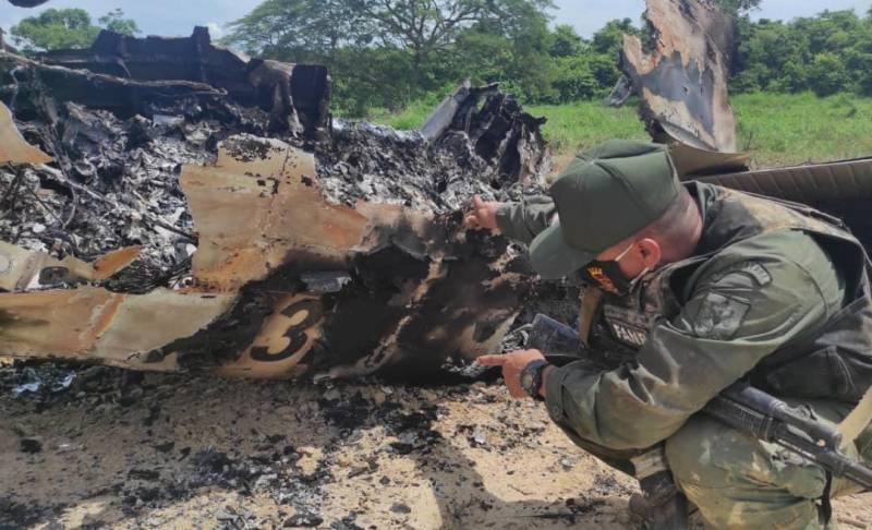Venezuelan Defense Ministry confirmed data on downed plane with American symbols