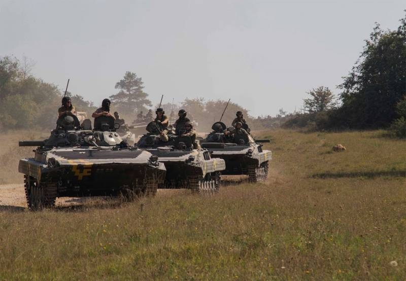 At the exercises in Germany BMP-2 APU was entrusted «cover up» column of tanks M1A1 Abrams of the US army