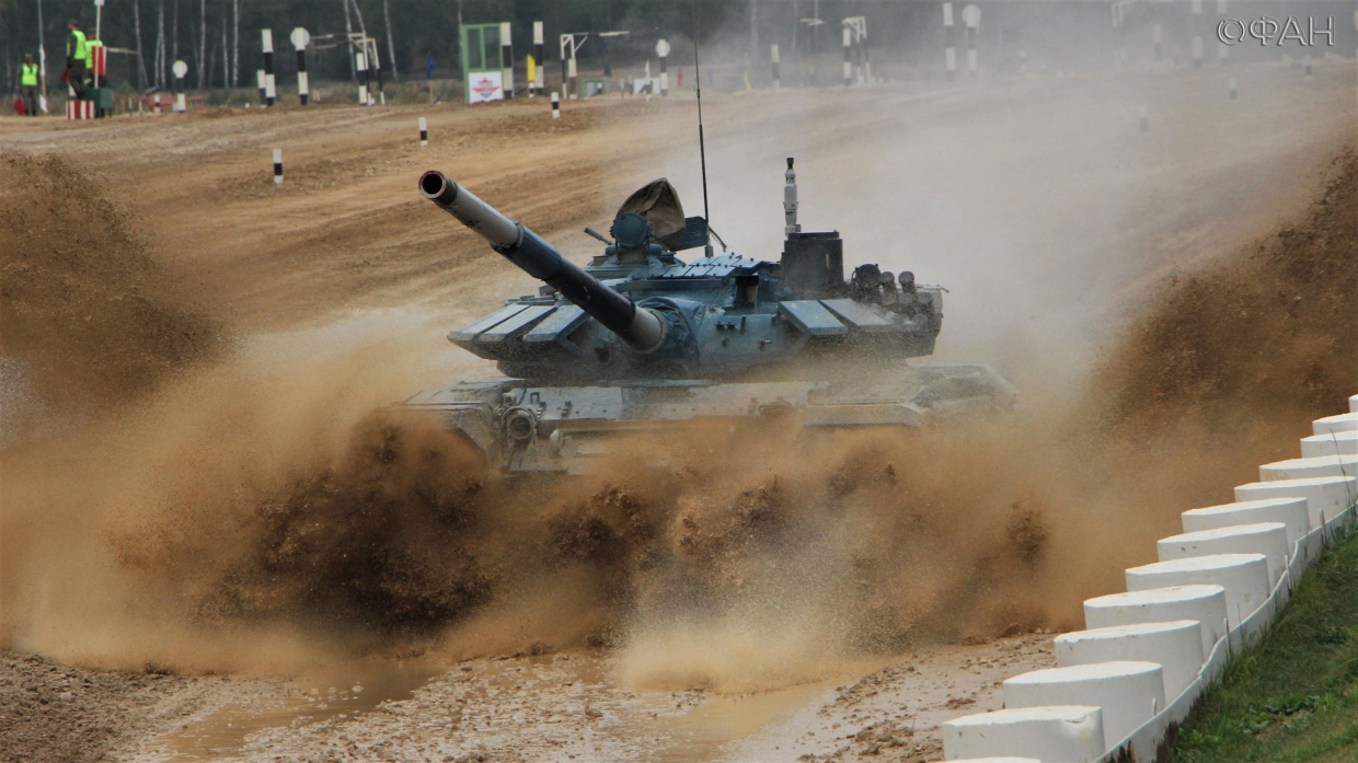 Russia's victory over China at the 2020 tank biathlon brought 39 seconds