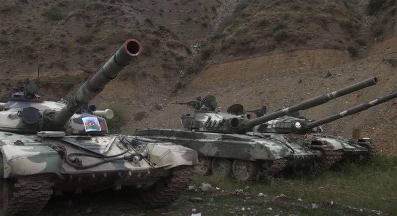 Armored vehicles on the move: Azerbaijani troops showed tanks captured from the NKR army