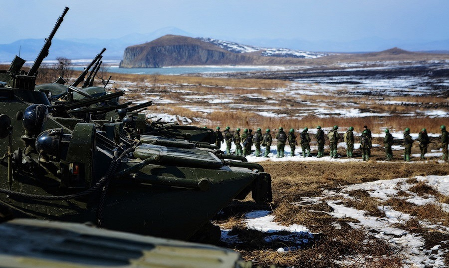 Russian tanks in the Kuril Islands