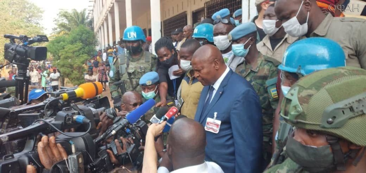 The incumbent President of the Central African Republic voted in the elections