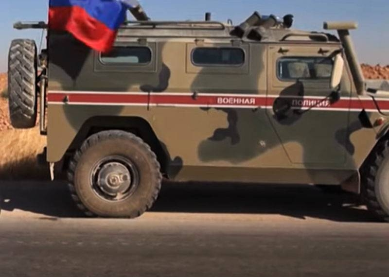 Syrian media: Column of Russian armored vehicles «Tiger» and «Typhoon» entered Ain Issa under the cover of Mi-35