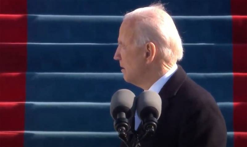 Biden's words became known during the inauguration of the President of the United States