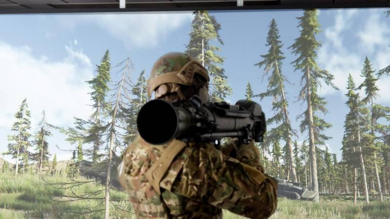 Swedish grenade launchers are taught shooting using virtual reality systems