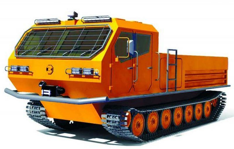 The VPK company has developed a project of a new snow and swamp-going vehicle based on MT-LB