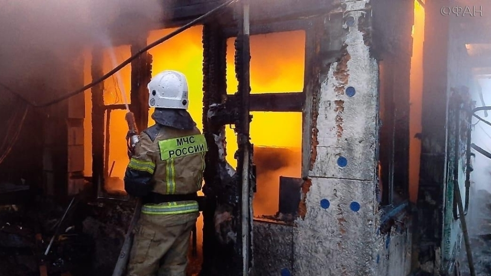 Three children escaped from a fire in the private sector of Novosibirsk