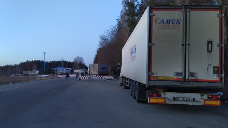 Queue of trucks in 6 km formed on the border of Kaliningrad with Lithuania