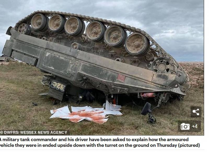 In Britain, it was reported about the overturning of an armored vehicle during maneuvers near Salisbury