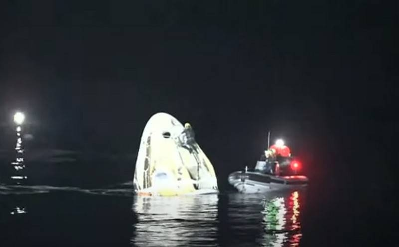 American ship Crew Dragon splashed down successfully in the Gulf of Mexico